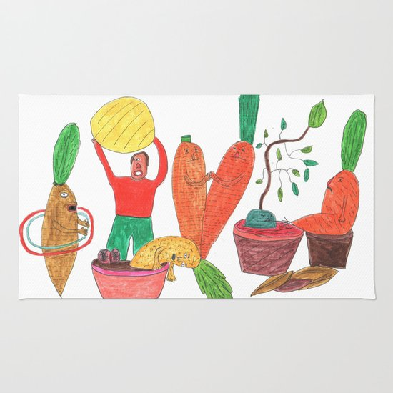 Vegetables Party. Rug