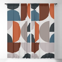 Mid Century Modern Geometric 25 Blackout Curtain