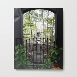 Roman Bust in a Forest Metal Print