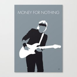 No107 MY Knopfler Minimal Music poster Canvas Print