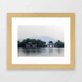 Hangzhou Lake Framed Art Print