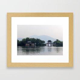 Hangzhou Lake Framed Art Print
