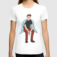 dean winchester T-shirts featuring Winter Dean Winchester by HarvestMoon