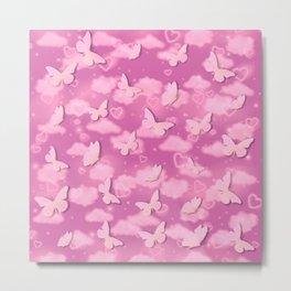 Pink butterflies Metal Print
