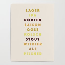 Beer List Poster
