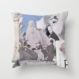 The Residents of the Monument Throw Pillow