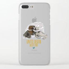 until death do us part (PLASTICOCEANS) Clear iPhone Case