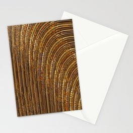 zara - art deco arc arch design in bronze copper gold Stationery Cards