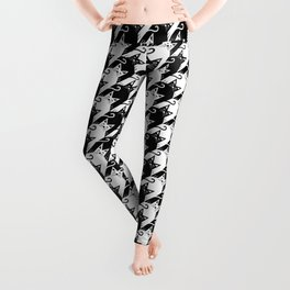cat houndstooth Leggings