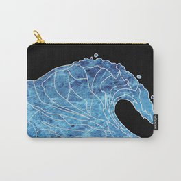 Abstract wave Carry-All Pouch