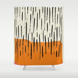 Lines abstract color box Shower Curtain