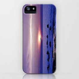 Blue and Purple Sunset on the Sea iPhone Case