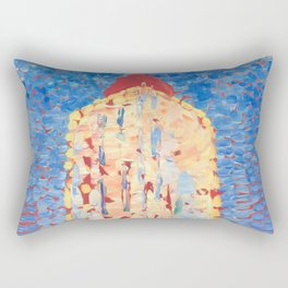 Lighthouse in Westkapelle by Piet Mondrian 1909 // Nautical and Costal Theme Colorful Decor Rectangular Pillow