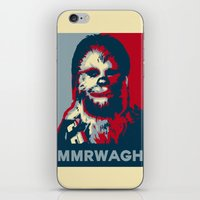 chewbacca iPhone & iPod Skins featuring Chewbacca  by Ilustrachii