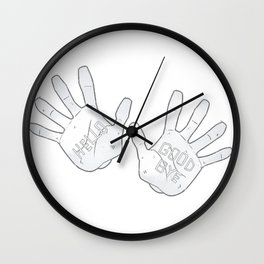 Klaus Hargreeves Hello Goodbye Tattoo Wall Clock