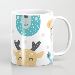 Baby Animals - Fantasy and Woodland Creatures Pattern Coffee Mug