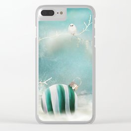 Minimal Christmas Clear iPhone Case