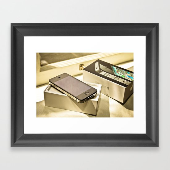 iPhone 4 Framed Art Print