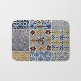 Porto Tiles Collage Bath Mat