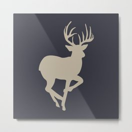 Buck02 Tan Navy Metal Print