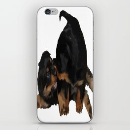 Rottweiler Puppies Playing Vector Isolated iPhone Skin
