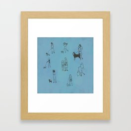 I feel like we don't belong here. Framed Art Print