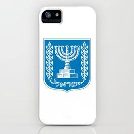 emblem of Israel 1-יִשְׂרָאֵל ,israeli,Herzl,Jerusalem,Hebrew,Judaism,jew,David,Salomon. iPhone Case