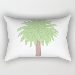 Cute Palm Tree Illustration Rectangular Pillow