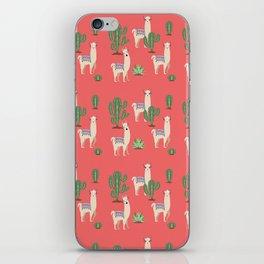 Llama with Cacti iPhone Skin