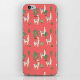 Llama with Cacti iPhone Skin