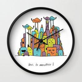 Monster Tower II Wall Clock