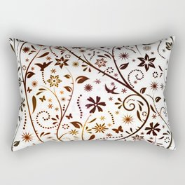 blak and white Rectangular Pillow