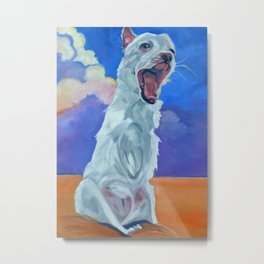 Special Needs Pippin Dog Portrait Metal Print