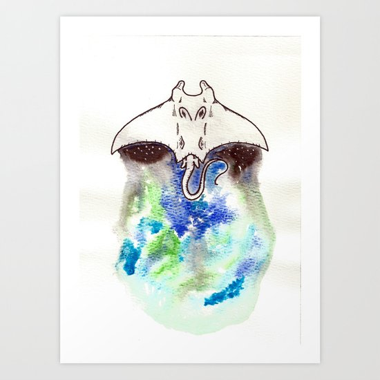 Manta Art Print