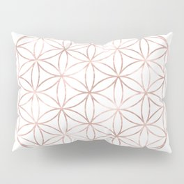 Mandala Rose Gold Flower of Life Pillow Sham