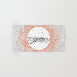 Chattanooga, Tennessee City Skyline Illustration Drawing Hand & Bath Towel