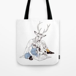 Bestial father and son Tote Bag