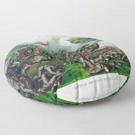 Civil War -- Battle of Five Forks Floor Pillow