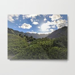Halawa Valley Metal Print