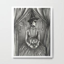 Samhain Witch Metal Print