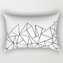 Ab Peaks White Rectangular Pillow