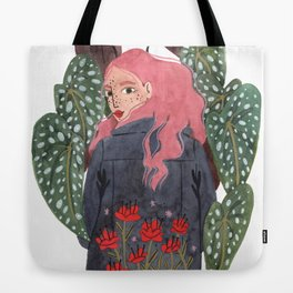 Holding plant Tote Bag
