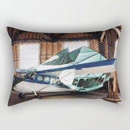 hangar airplane Rectangular Pillow