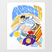 messi Art Prints featuring Messi by Simon Estrada
