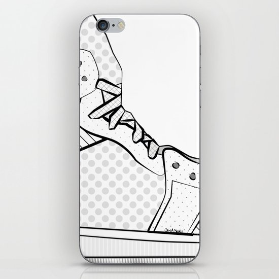 sneaker illustration pop art drawing - black and white graphic by ohaniki