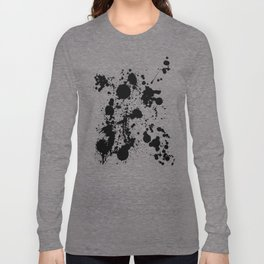 Ink spattered all over - Pattern #society6 #lifestyle Long Sleeve T-shirt