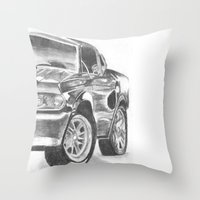 mustang Throw Pillows featuring Mustang by WNN Creations
