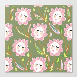 Springy Ladyflowers Canvas Print