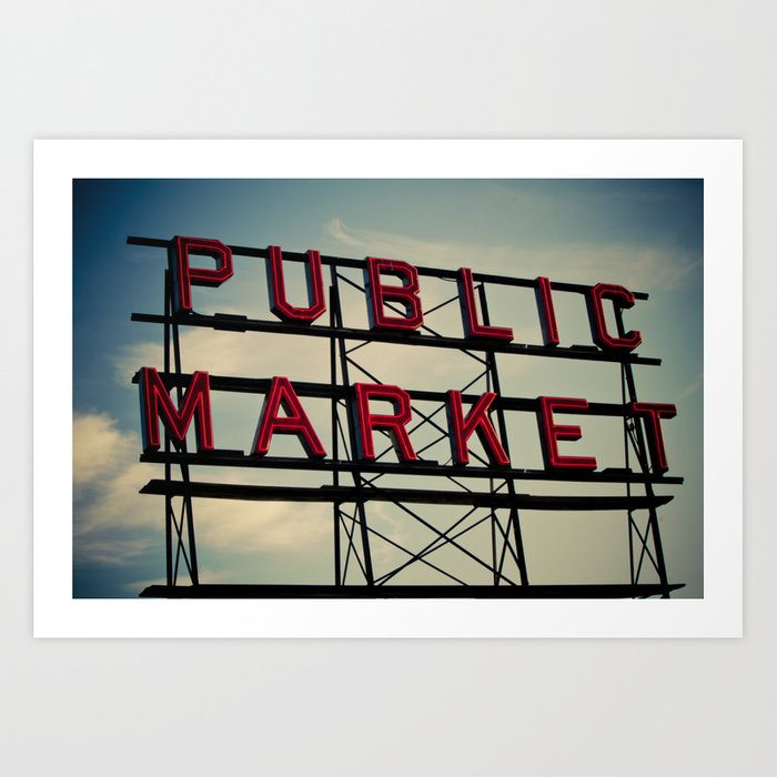 Pike Place Art Print