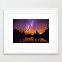 milky way Framed Art Prints featuring Milky Way by EclipseLio